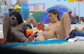 flagradas na praia