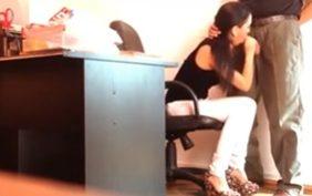 flagras de sexo no trabalho