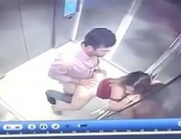 Fodendo putinha gostosa sem calcinha dentro do elevador